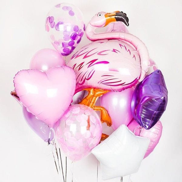Воздушные шары. Доставка в Москве: Розовый фламинго Цены на https://sharsky.msk.ru/
