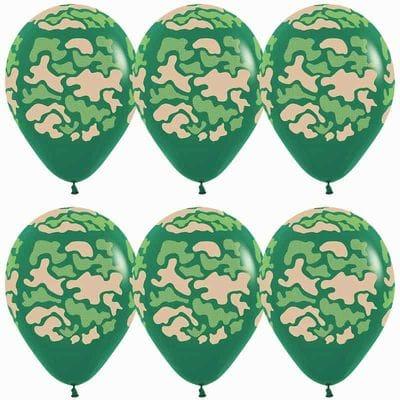 Камуфляжные шары с гелием, 35 см