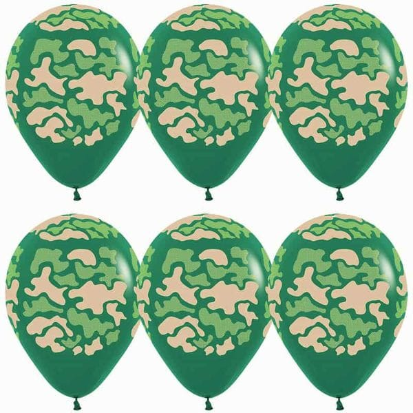 Воздушные шары. Доставка в Москве: Камуфляжные шары с гелием, 35 см Цены на https://sharsky.msk.ru/