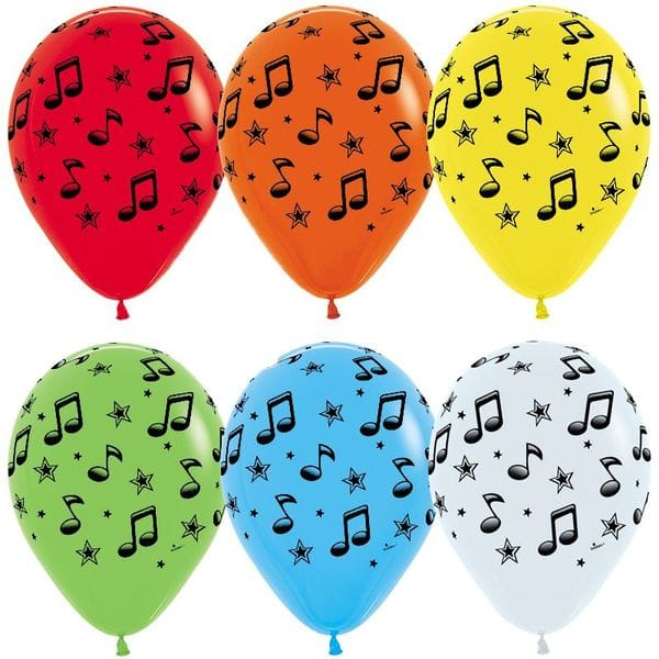 Воздушные шары. Доставка в Москве: Шарики c нотами, 35 см Цены на https://sharsky.msk.ru/