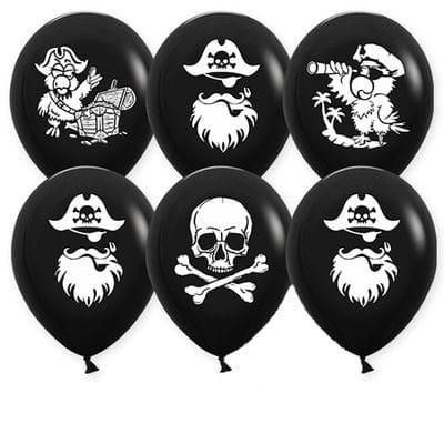 Черные пиратские шарики, 35 см