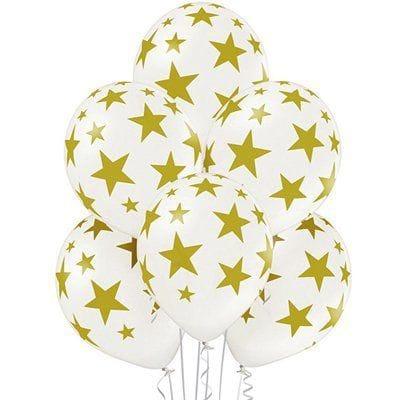 Белые шарики со звездами
