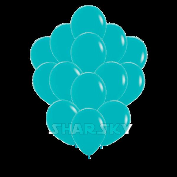 Воздушные шары. Доставка в Москве: Бирюзовые шарики, 35 см Цены на https://sharsky.msk.ru/