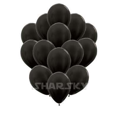 Черные шары, 35 см
