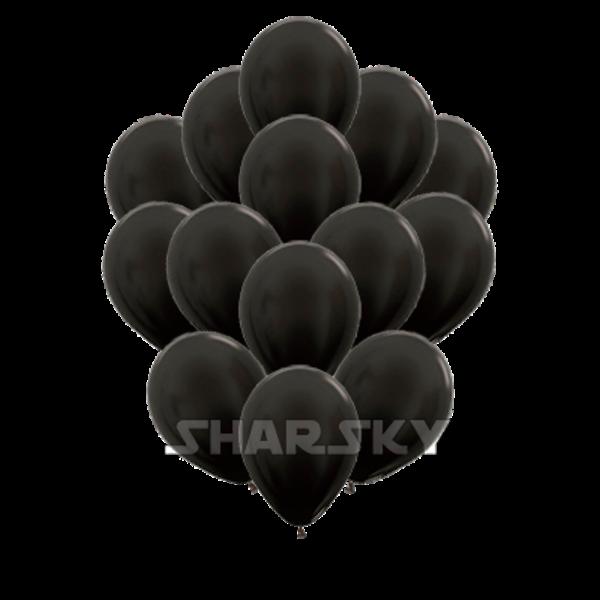 Воздушные шары. Доставка в Москве: Черные шары, 35 см Цены на https://sharsky.msk.ru/