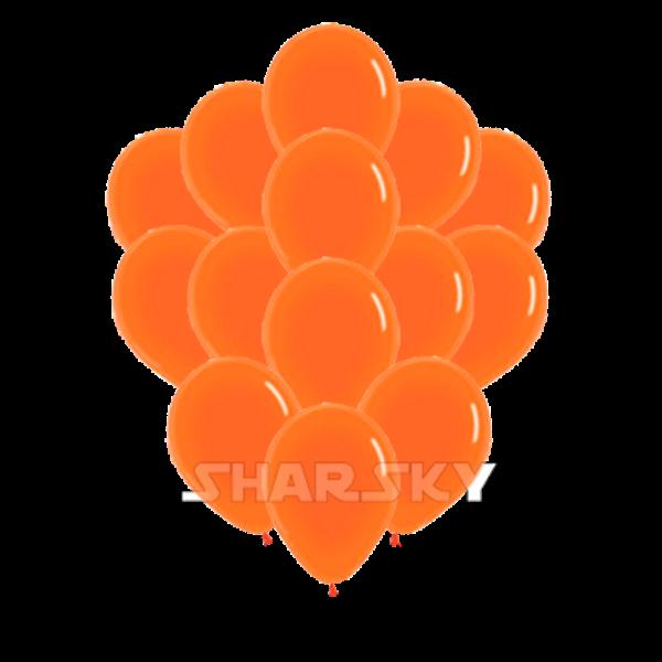 Воздушные шары. Доставка в Москве: Оранжевые шарики, 35 см Цены на https://sharsky.msk.ru/