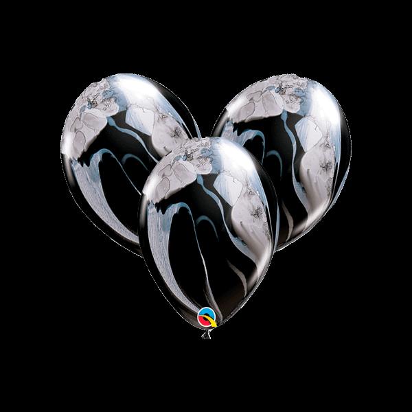 Воздушные шары. Доставка в Москве: Шары-агаты черно-белые Цены на https://sharsky.msk.ru/