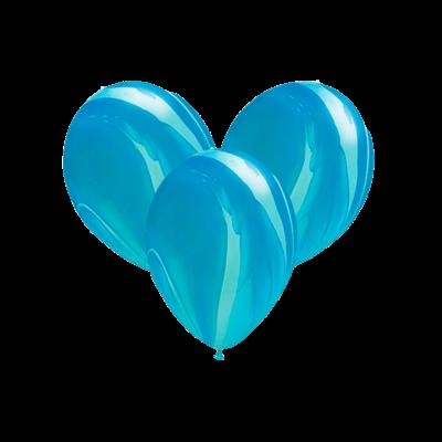 Шары-агаты синие