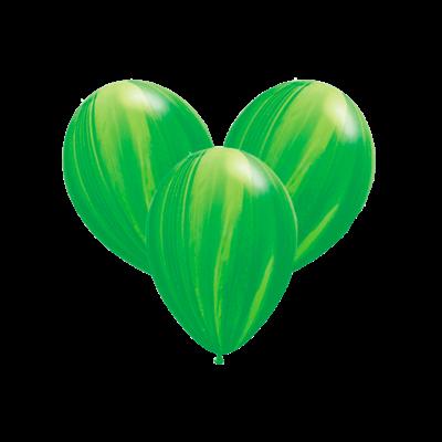 Шары-агаты зеленые