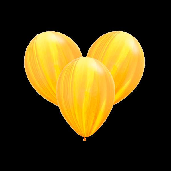 Воздушные шары. Доставка в Москве: Шары-агаты жёлтые Цены на https://sharsky.msk.ru/