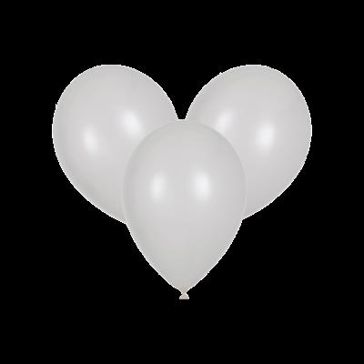 Белые воздушные шары