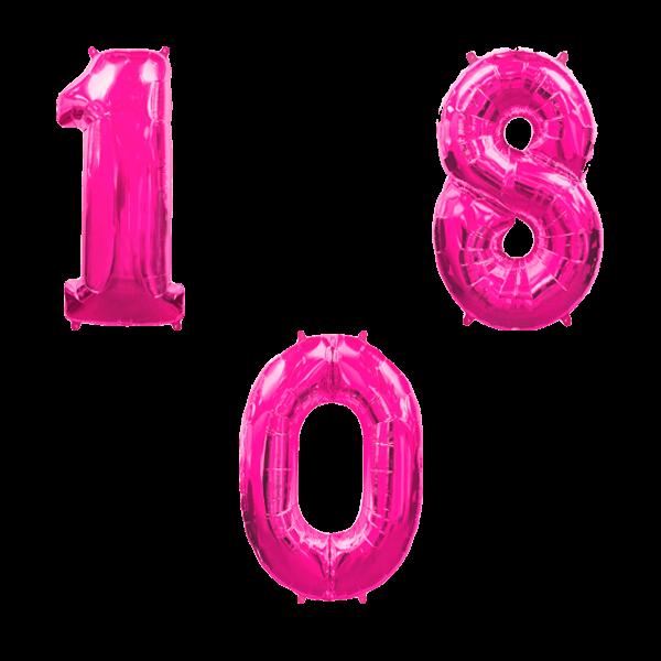 Воздушные шары. Доставка в Москве: Цифры фуше Цены на https://sharsky.msk.ru/