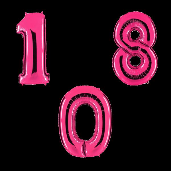 Воздушные шары. Доставка в Москве: Красные цифры Цены на https://sharsky.msk.ru/