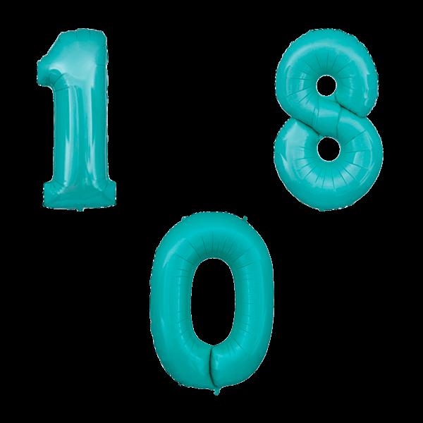 Воздушные шары. Доставка в Москве: Мятные цифры Цены на https://sharsky.msk.ru/