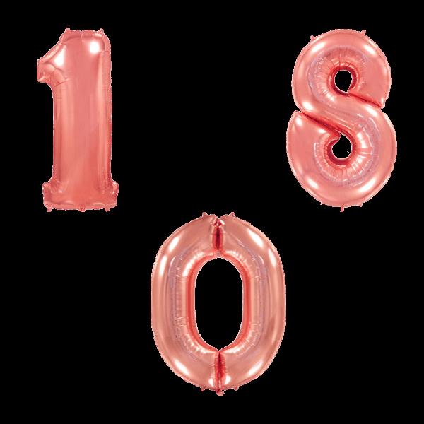 Воздушные шары. Доставка в Москве: Цифры розовое золото Цены на https://sharsky.msk.ru/