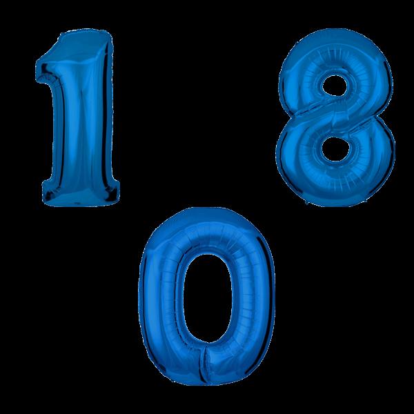 Воздушные шары. Доставка в Москве: Синие цифры Цены на https://sharsky.msk.ru/