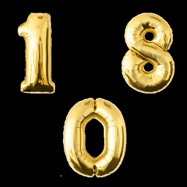 Воздушные шары. Доставка в Москве: Золотые цифры Цены на https://sharsky.msk.ru/