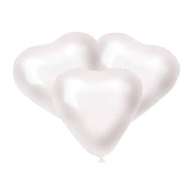 Шарики Белые сердца