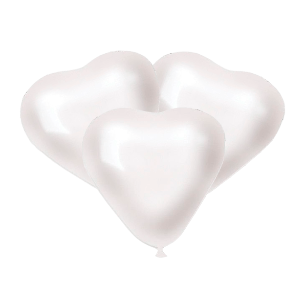 Воздушные шары. Доставка в Москве: Белые сердца Цены на https://sharsky.msk.ru/