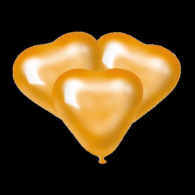 Шарики Золотые сердца