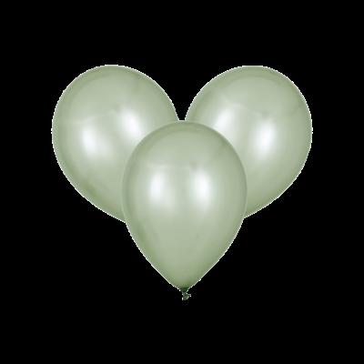 Серебряные воздушные шары