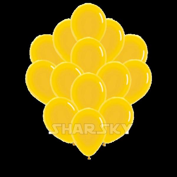 Воздушные шары. Доставка в Москве: Желтые шары, 35 см Цены на https://sharsky.msk.ru/