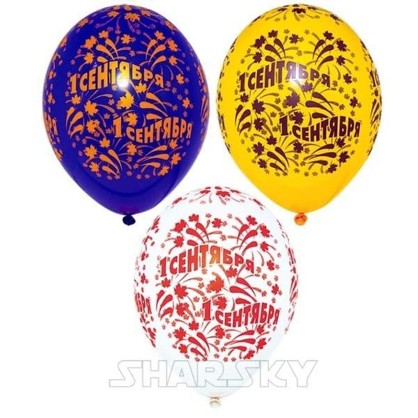Воздушные шары. Доставка в Москве: Шары на 1 сентября с листьями, 35 см Цены на https://sharsky.msk.ru/