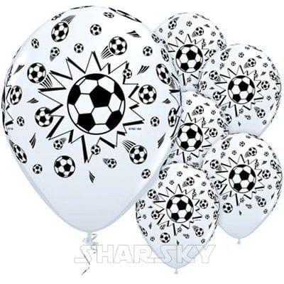Шарики с футбольными мячами, 35 см