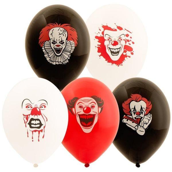 Воздушные шары. Доставка в Москве: Шары Джокер, Пеннивайз, страшный клоун, 35 см Цены на https://sharsky.msk.ru/