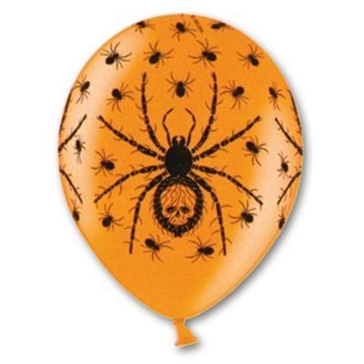 """Шары """"Оранжевые с пауком"""", 35 см"""