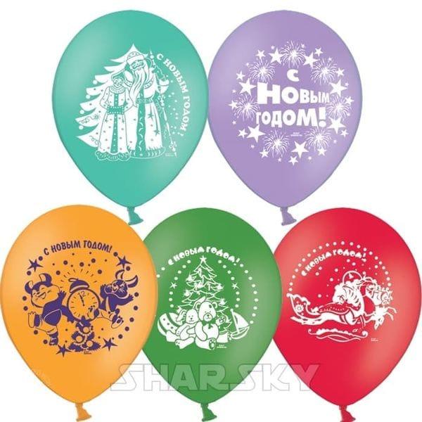 Воздушные шары. Доставка в Москве: Новогодние шары, 35 см Цены на https://sharsky.msk.ru/