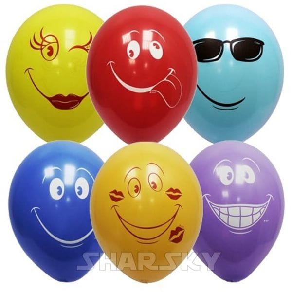 Воздушные шары. Доставка в Москве: Веселые шарики, 35 см Цены на https://sharsky.msk.ru/