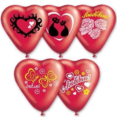 """Красные сердца """"С любовью"""", 40 см"""