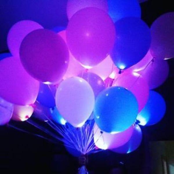 Воздушные шары. Доставка в Москве: 25 Светящихся шариков Цены на https://sharsky.msk.ru/
