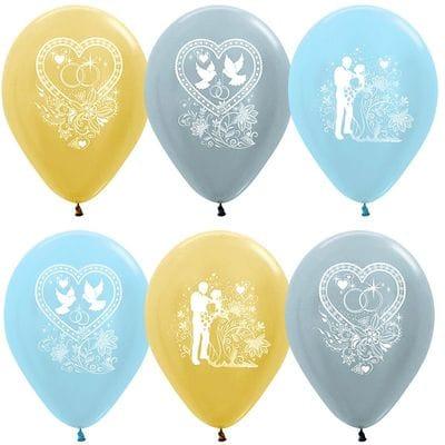 Свадебные шарики, 35 см