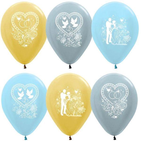 Воздушные шары. Доставка в Москве: Свадебные шарики, 35 см Цены на https://sharsky.msk.ru/